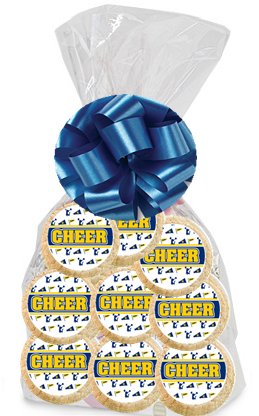 Order / Send Cheerleader Party Favor / Gift Decorated Sugar Cookies