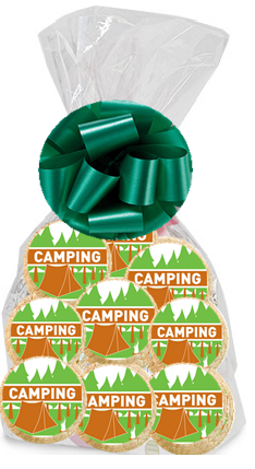 Order / Send Camping Party Favor / Gift Decorated Sugar Cookies